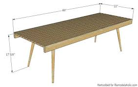 diy modern slat coffee table building plan