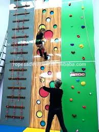 diy kids climbing wall kids climbing equipment indoor climbing wall with auto belaying kids climbing equipment