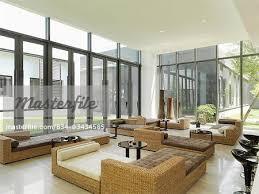 contemporary sunroom furniture. Wicker Furniture In Large Modern Sunroom - Stock Photo Contemporary S