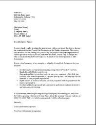 Thank You Letter After Interview For Accounting Position Note To ...