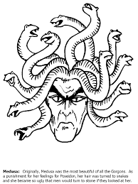 Small Picture Medusa Greek Coloring Pages Coloring Book