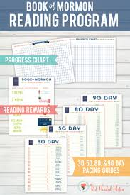 Book Of Mormon Reading Chart 90 Days Book Of Mormon Study Squares