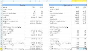 Common Size Balance Sheet Part 2 Template Sample – Awesome Tojson