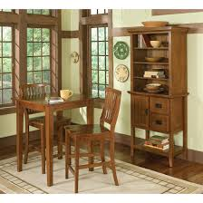 small dining room chairs. Small Dining Table With High Leg And 2 Chairs Beside Cabinet Bookshelf For Room Spaces Mission Style Furniture Set