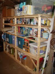 diy basement storage shelves 2x4s build yourself