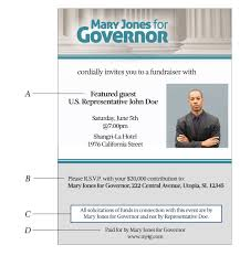 Political Fundraising Invitations Fundraising By Federal Candidates And Officeholders For