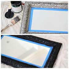 diy painted mirror frame. Bath Mirror   Love Of Home Diy Painted Frame