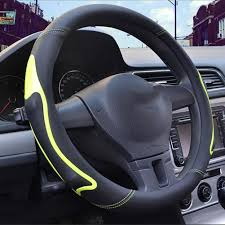 lenkradschoner lace up steering wheel cover genuine leather steering wheel cover agmi car accessories