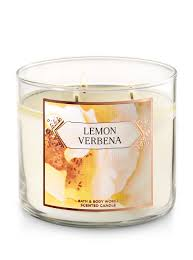 Lemon Verbena 3-Wick Candle - Bath And Body Works