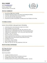 profile summary in resume for freshers 5 perfect ccna resume samples that you should use