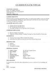 Sample Undergraduate Resume Undergraduate Resume Template Doc New Academic Cv Sample