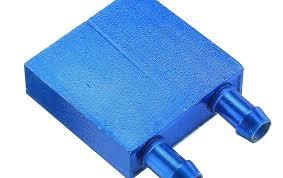 40*40 <b>0.5mm Blue Aluminum</b> Alloy Water Cooling Block Radiator ...