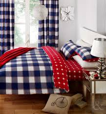 just contempo gingham duvet cover set king blue co uk kitchen home