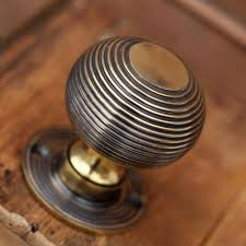 Modern Antique Brass Front Door Knobs Beehive Knob Diameter Roseplate For Impressive Design
