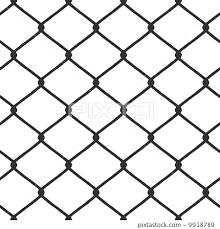 Chain Link Fence Vector Stock Illustration 9918789 Pixta
