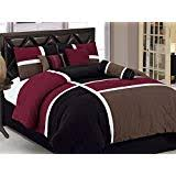 comforter sets for guys. Perfect Sets Chezmoi Collection 7Piece Quilted Patchwork Comforter Set Queen  Burgundy Brown And On Sets For Guys Amazoncom