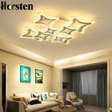 2018 led ceiling lights for living room bedroom decoration lighting fixtures ac110 240v acrylic lamp shade dimming ceiling lamps from lightlight