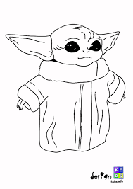 I've used 4 seasons marvel in both 8 and 12 ply but this pattern can work with any acrylic yarn and hook size. Baby Yoda Coloring Pages Coloring Home