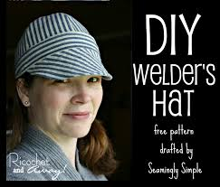 Welding Cap Pattern Interesting Ricochet And Away Welder's Hat I Found A Free Pattern