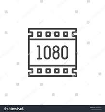 Web Design Resolution 1080 Pixels Resolution Outline Icon Linear Stock Vector
