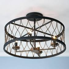 Enclosed Ceiling Fan With Light Irrational Small Fans Flush Mount