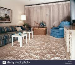 Square Living Room 1960s Living Room Shag Carpet Square Module End Tables Sofa Chair