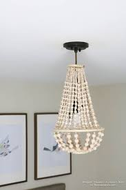 remodelaholic how to make a wood bead chandelier with regard to amazing property diy wood bead chandelier designs