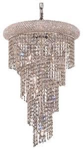 spiral 8 light chandelier royal cut clear crystal chrome
