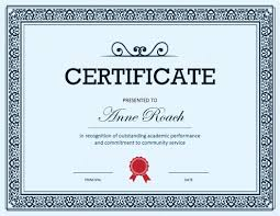 Best Performance Award Certificate 27 Printable Award Certificates Achievement Merit Honor