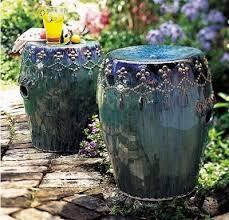 ceramic garden stools. Peacock Garden Stool. Ceramic Stools