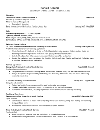 Resume Templates For Cse Students Resume Sample Format