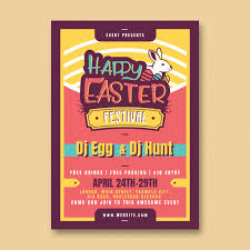 Easter Party Flyer Template Psd File Free Download