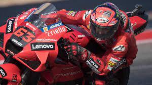 MotoGP: pole position di Bagnaia ad Austin. Cade Valentino Rossi