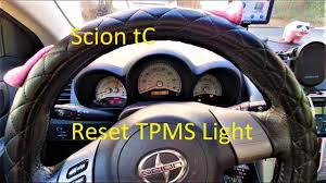 Scion Tc Maintenance Light Reset Resetting The Tire Pressure Warning Light On The Scion Tc Quick Tips 2