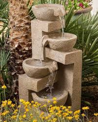 fountain garden. Flowing Bowl Garden Water Fountain
