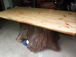 Coffee Table Tree Rustic Western Dining Room Table With Stump Base Sycamore Tree