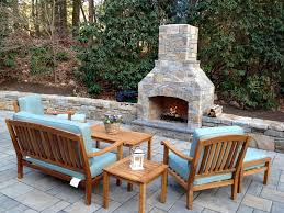 48 contractor series outdoor masonry firepit kit with natural stone veneer finishing