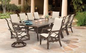 amazing patio dining set with fire pit table alasweaspire fire pit dining set