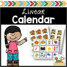 Linear Calendar Kit Pre K Pages