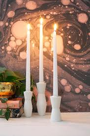 Diy Candle Holders Diy Mid Century Candlestick Holders A Beautiful Mess