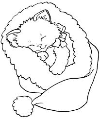 Color The Christmas Kitty Christmas Christmas Coloring Pages