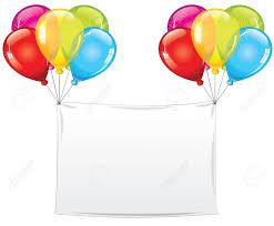 Blank Birthday Banner Blank Holiday Birthday Banner With Balloons