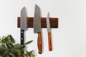 magnetic knife rack diy
