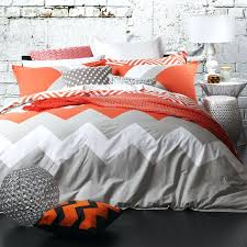 image of orange and grey bedding design ideas