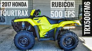 2018 honda 500 foreman. plain 2018 2017 honda rubicon eps 500 4x4 atv trx500fm6h walkaround video  yellow  hondaprokevincom on 2018 honda foreman o