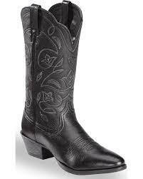 zoomed image ariat western deertan cowboy boots black hi res