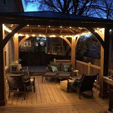 Costco Patio Lights New Costco Yardistry Gazebo On Our New Deck With Led Outdoor