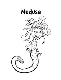 Small Picture M is for Medusa Coloring Page NetArt