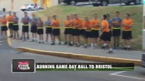 Virginia Tech Rotc Ut Virginia Tech Army Rotc Cadets Carry Game Balls To Bristol