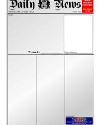 Newspaper Template Sparklebox Newspaper Writing Frames And Printable Page Borders Ks1
